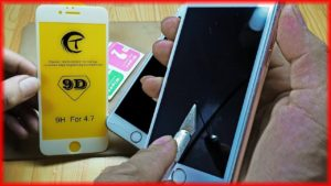 how to apply screen protector temper glass